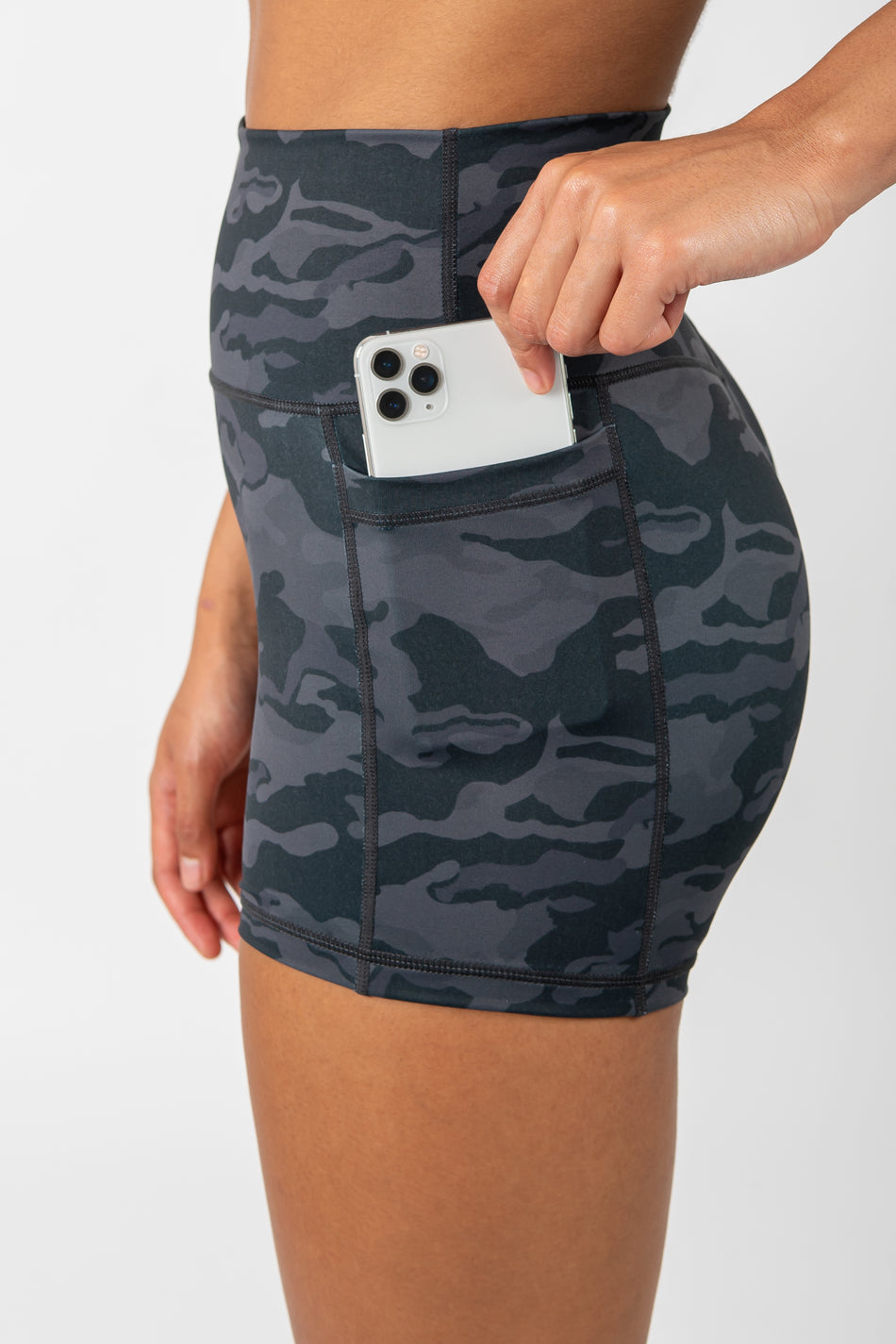 Camo Shorts - Black - WearWolf Clothing UK