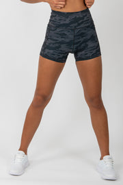 Camo Shorts - Black - WearWolf Clothing Ltd