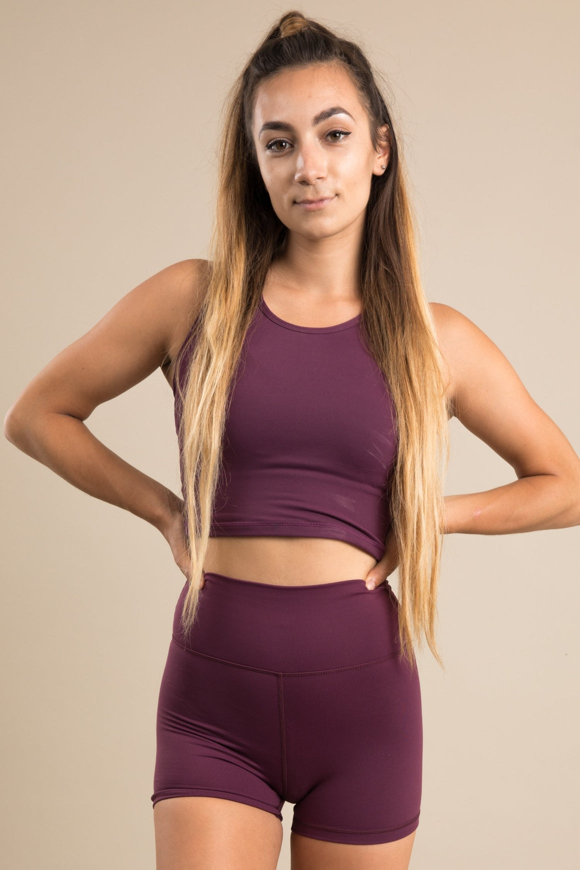 Sensation Cropped Vest - Plum