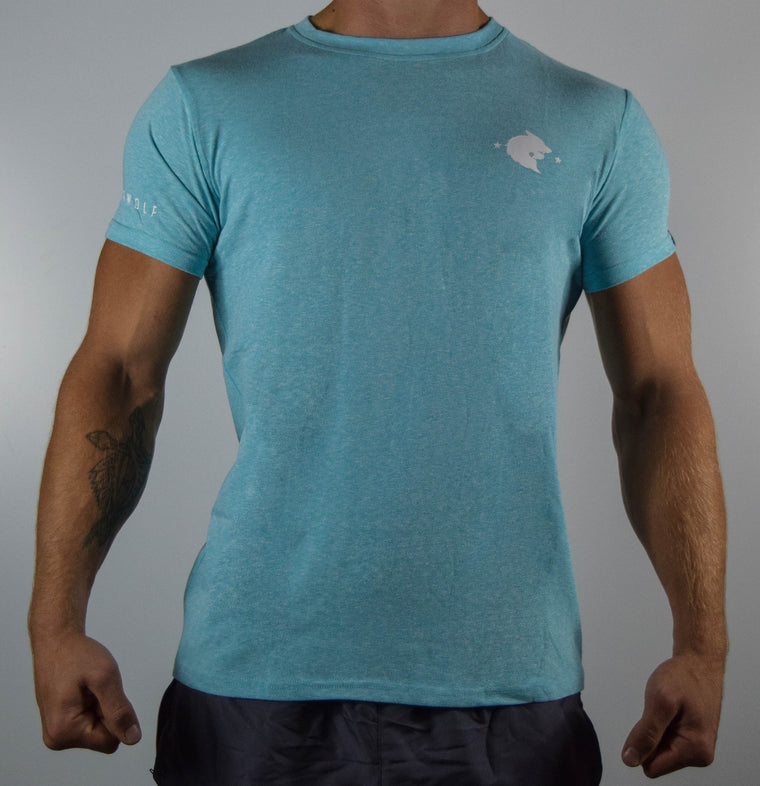 WearWolf Tri Series - Small Logo - Aqua - WearWolf Clothing UK