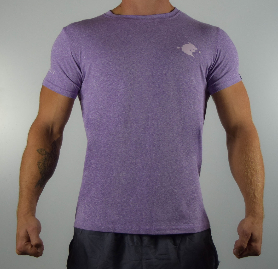 WearWolf Tri Series - Small Logo - Mauve - WearWolf Clothing UK