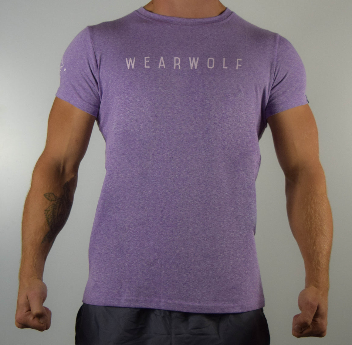 WearWolf Tri Series - Large Logo - Mauve - WearWolf Clothing UK