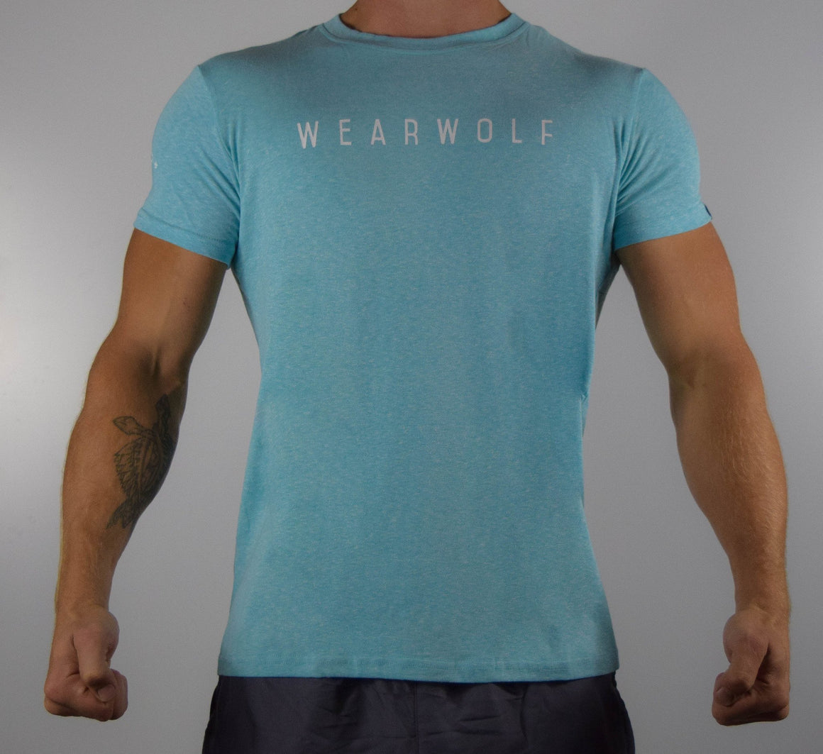 WearWolf Tri Series - Large Logo - Aqua - WearWolf Clothing UK
