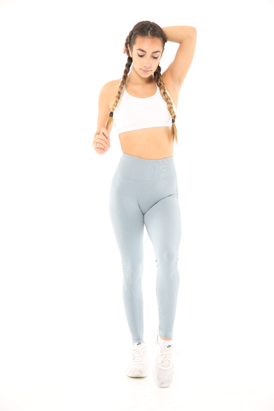 WearWolf 'Ribbed' High-Line Leggings - Ice Blue