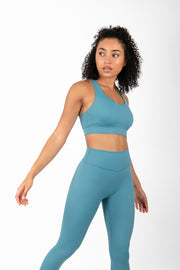 Infinity Sports Bra - Blue Silk - WearWolf Clothing UK