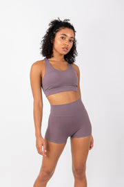 Infinity Sports Bra - Mauve - WearWolf Clothing UK