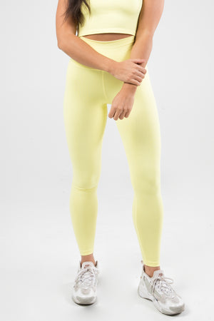 Sensation Leggings - Lemon Yellow