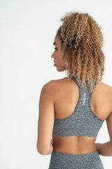 Power Seamless Bra 2.0 - Grey Marl - WearWolf Clothing UK