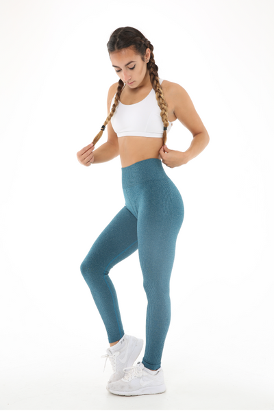 WearWolf 'Ribbed' High-Line Leggings - Royal Blue