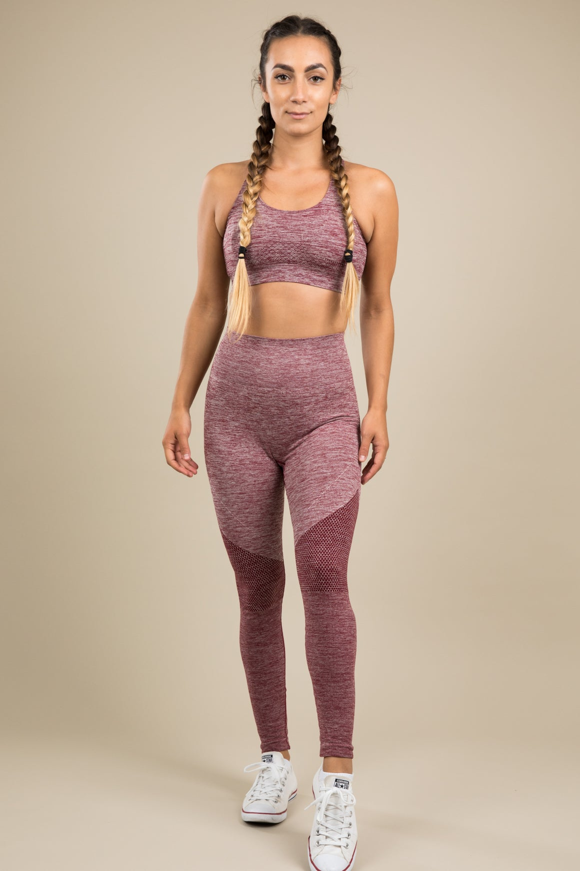 Seamless Leggings - Blush/Ruby Pink