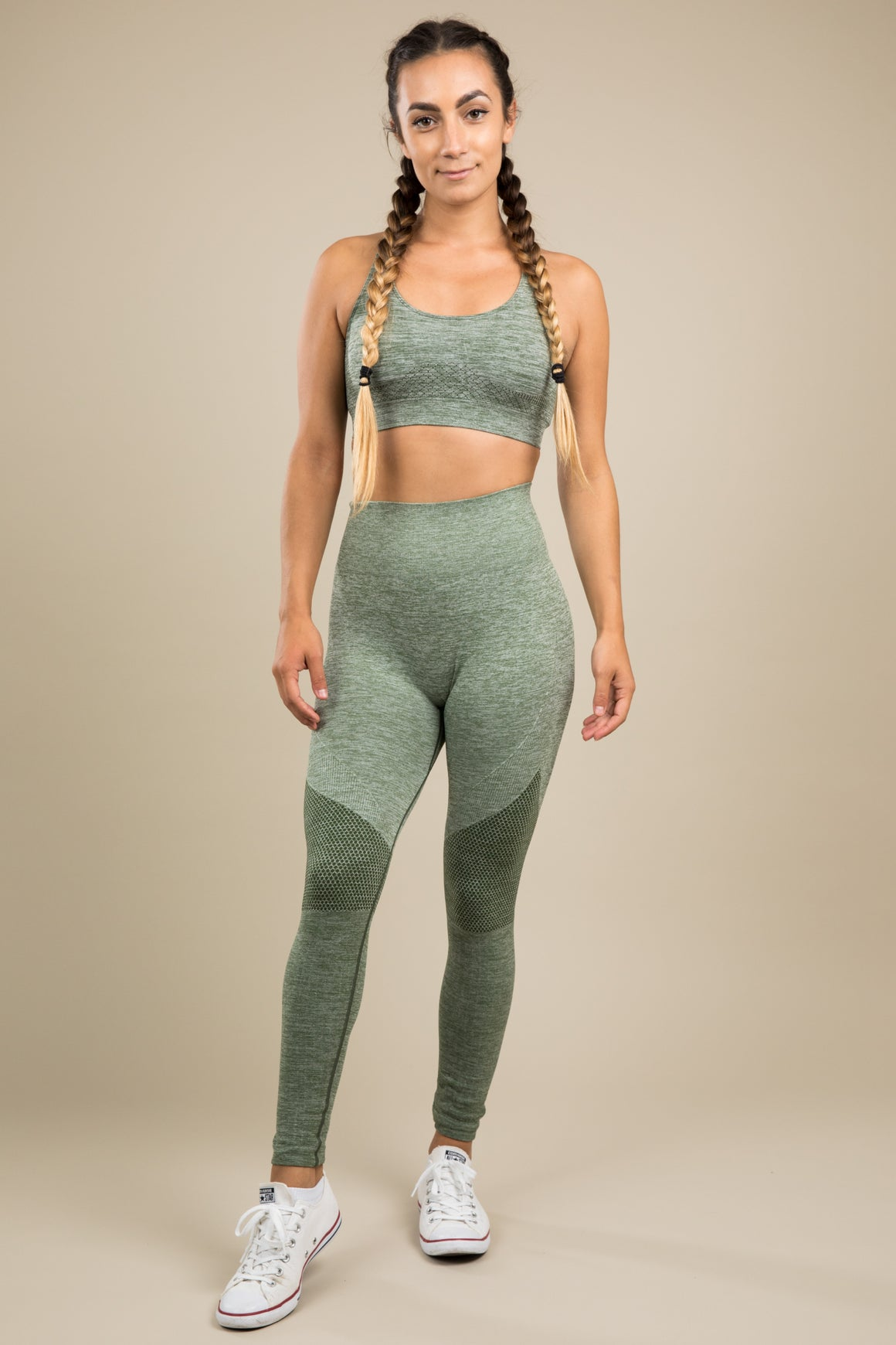 Seamless Leggings - Khaki Dream