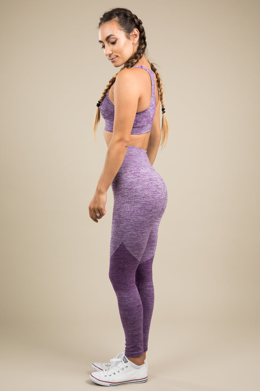 Seamless Leggings - Purple Rain