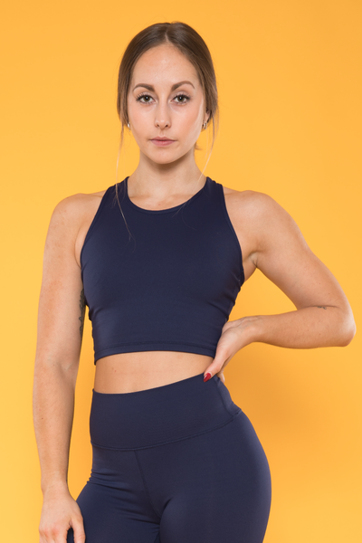Sensation Cropped Vest - Navy
