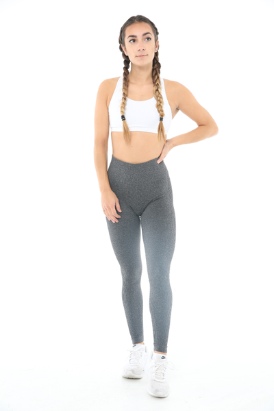 WearWolf 'Ribbed' High-Line Leggings - Space Grey