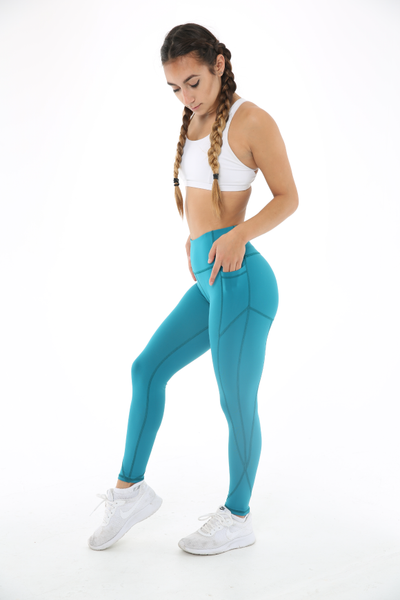 WearWolf High-Line Leggings 2.0 (Non Mesh) - Teal