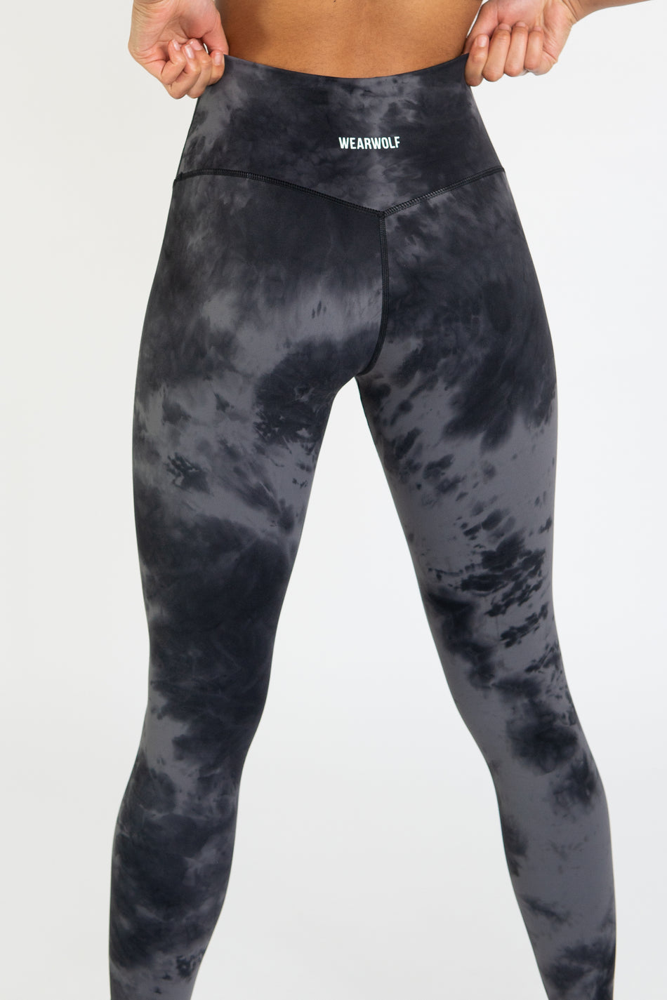 TieDye Leggings - Black/Silver - WearWolf Clothing UK