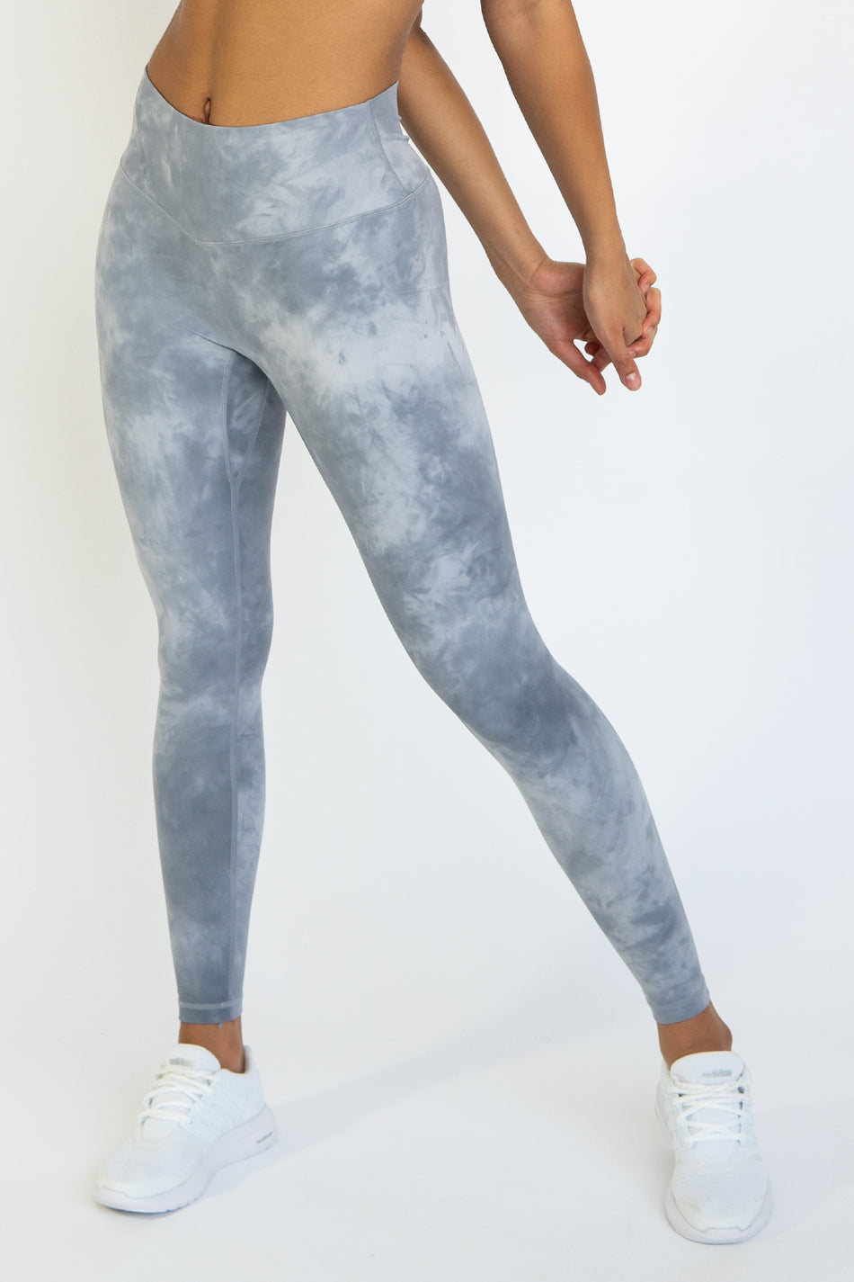 TieDye Leggings - Blue/Silver - WearWolf Clothing UK