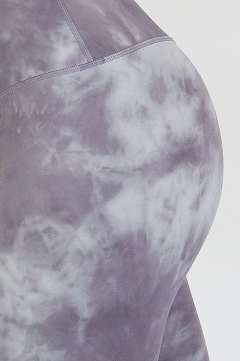 TieDye Leggings - Purple/Silver - WearWolf Clothing Ltd