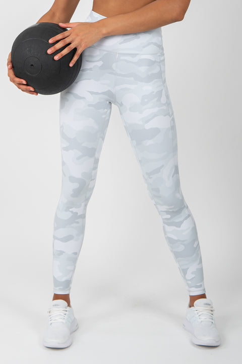 Camo Leggings - White - WearWolf Clothing Ltd