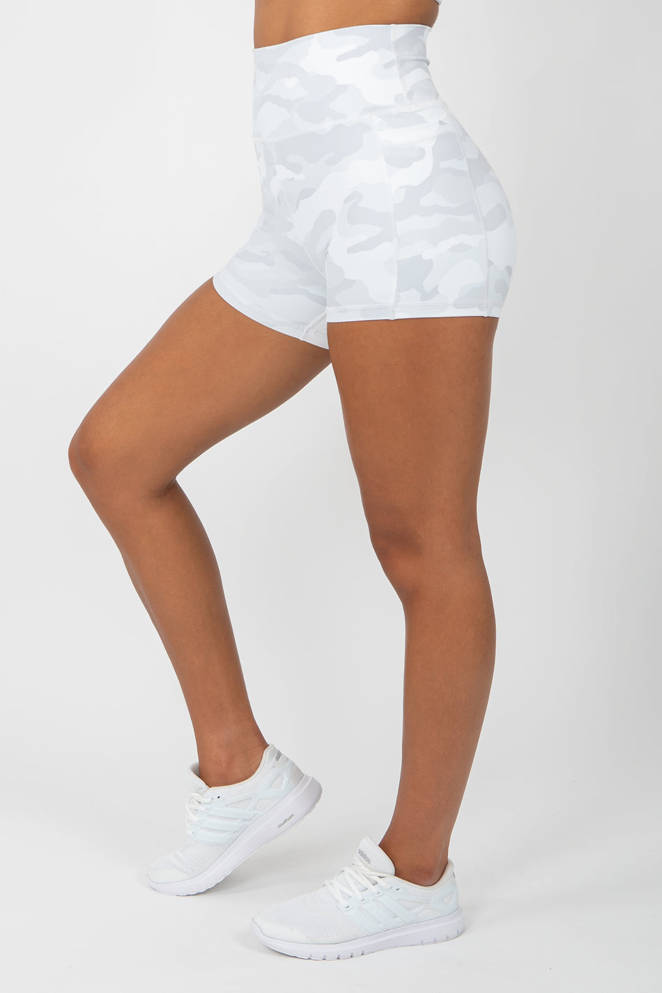 Camo Shorts - White - WearWolf Clothing Ltd