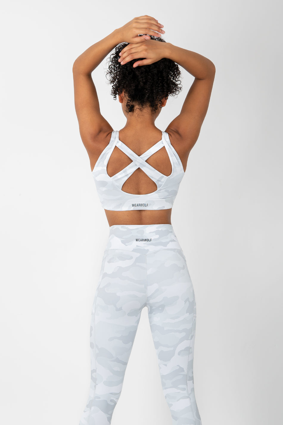 Zip Up Bra - White Camo - WearWolf Clothing UK