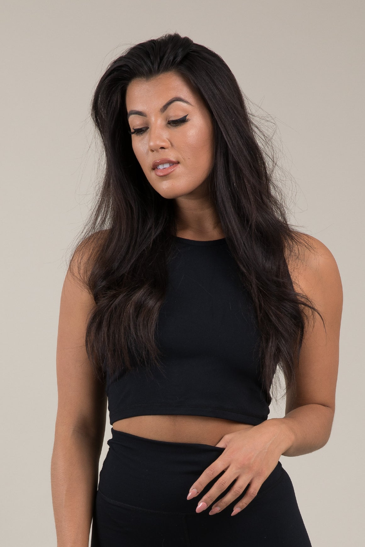 Sensation Cropped Vest - Black