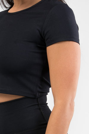 Cropped T-Shirt - Black