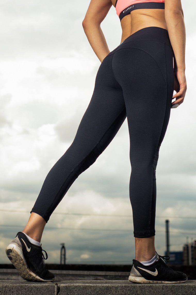 WearWolf Allure 7/8 Leggings - Black/Silver