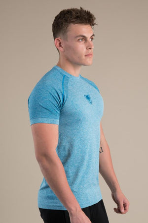 Mens Seamless T-Shirt - Energy Blue