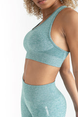 Power Seamless Bra 2.0 - Ocean Blue - WearWolf Clothing Ltd