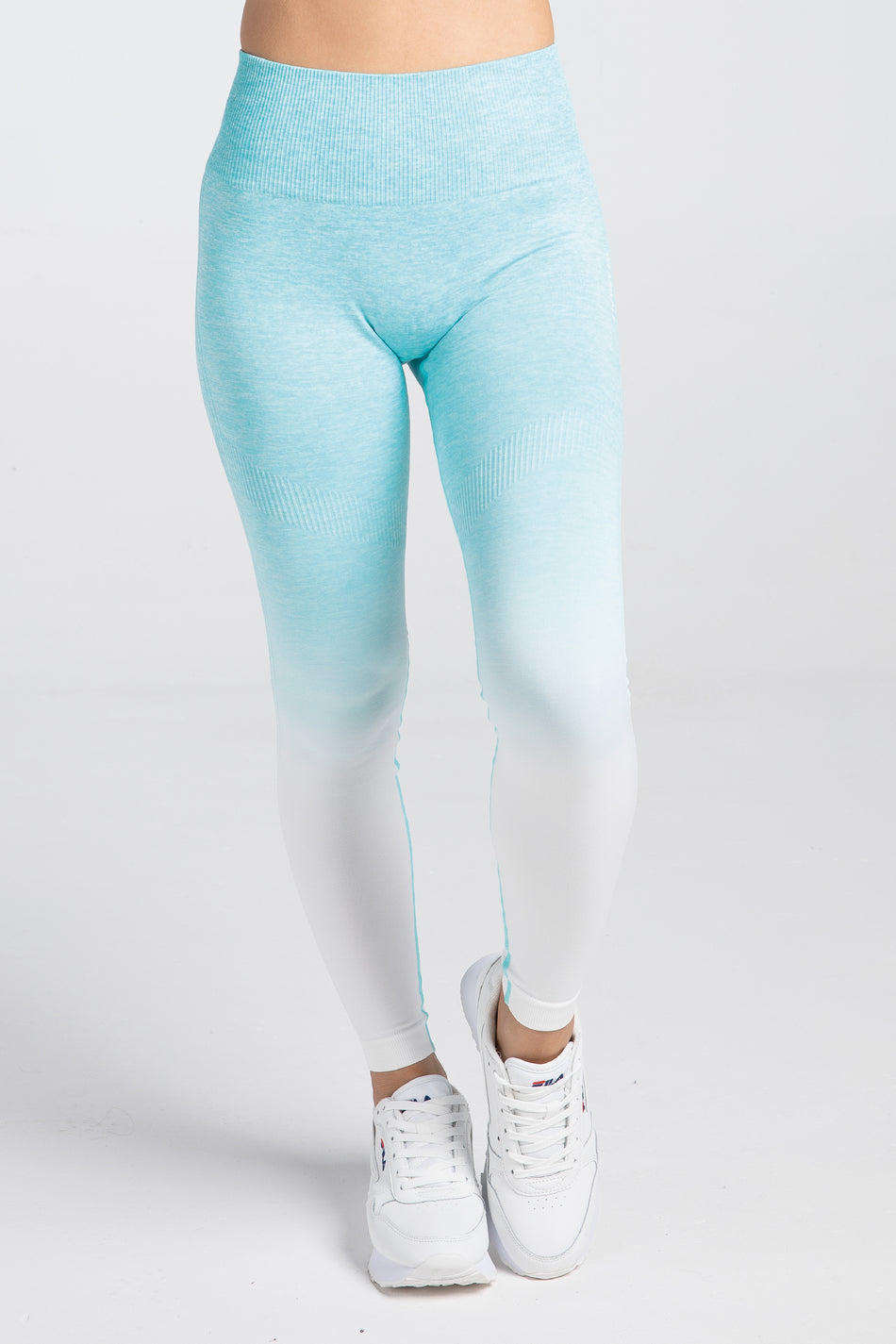 Active Ombre Seamless Leggings - Energy Blue