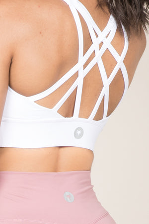 Flow Bra - White