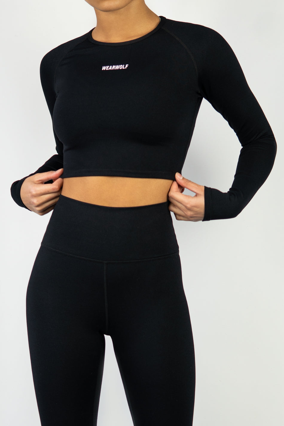 Form Long Sleeve Crop - Black