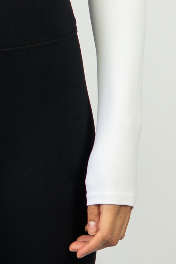 Form Long Sleeve Crop - White