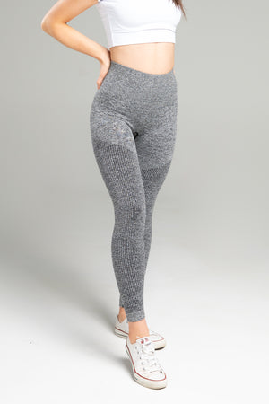 <b>[PRE ORDER]</b> Power Seamless Leggings - Grey Marl