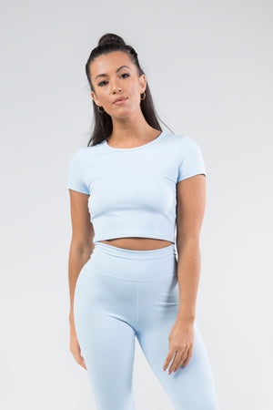 Cropped T-Shirt - Ice Blue