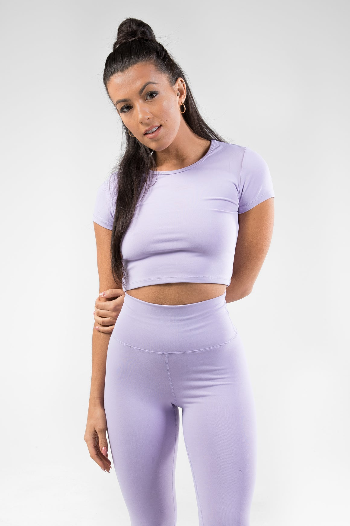 Cropped T-Shirt - Lavender Purple