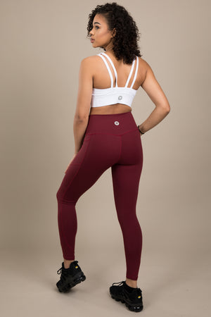 Sensation+ Leggings - Burgundy