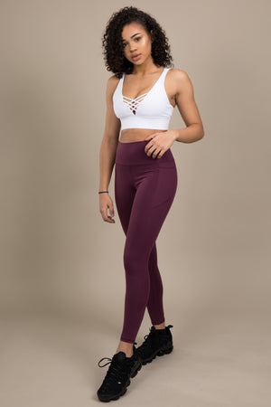 Sensation+ Leggings - Plum Purple