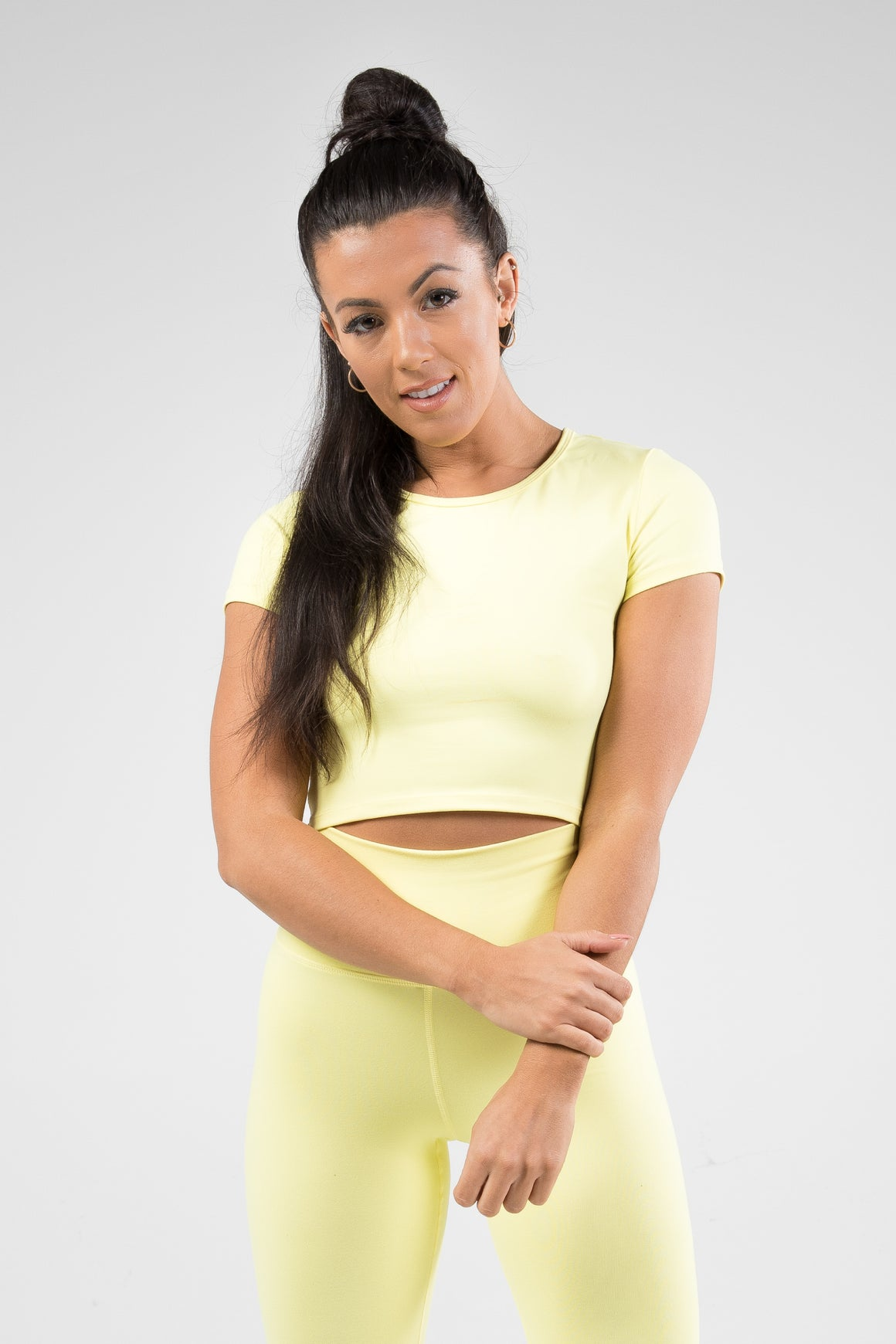 Cropped T-Shirt - Lemon Yellow