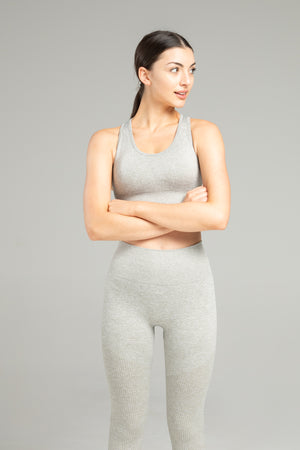 Power Seamless Bra - Light Grey