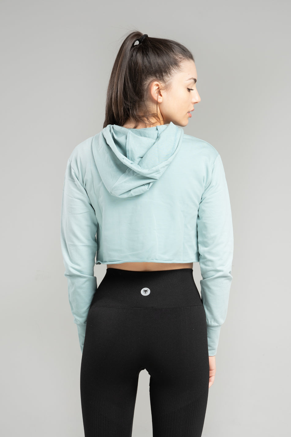 Cute N Cropped Hoodie - Mint Fade - WearWolf Clothing Ltd