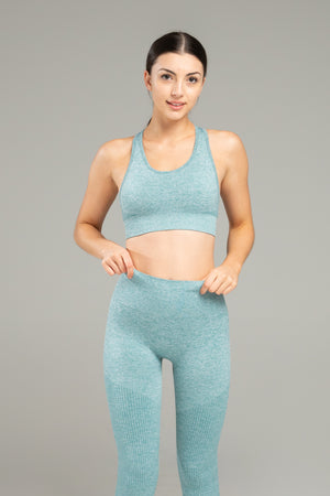 Power Seamless Bra - Ocean Blue