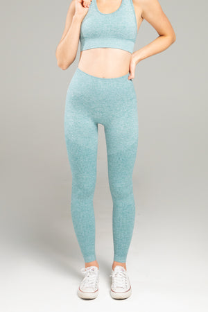 Power Seamless Leggings - Ocean Blue
