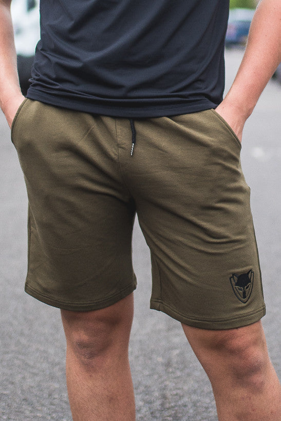 Men's Athletic Shorts - Olive Green