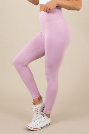 Sensation Leggings - Pastel Pink
