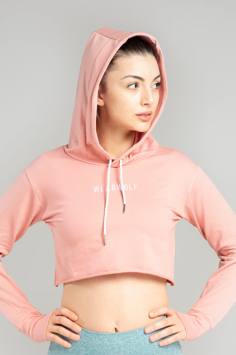 Cute N Cropped Hoodie - Peach - WearWolf Clothing Ltd