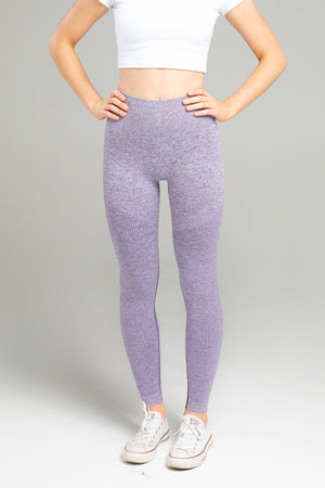 Power Seamless Leggings - Purple Marl