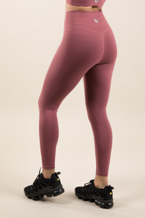 Sensation Leggings - Rose Red