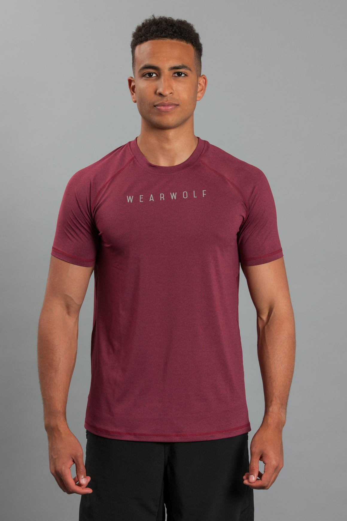 WearWolf AirTech T-Shirt - Burgundy - WearWolf Clothing UK